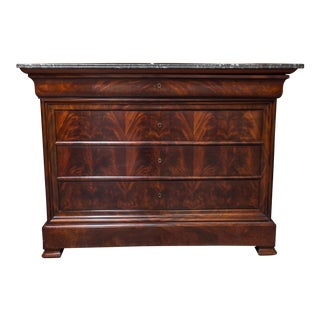 Louis-Philippe Flamed Mahogany Chest