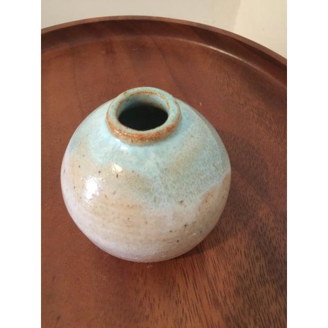 Image of Vintage Turquoise Bud Vase, Marked