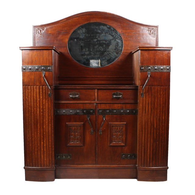 Antique German Arts & Crafts Style Cabinet - Image 1 of 7