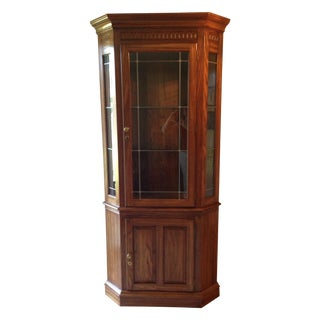 Pennsylvania House Lighted Corner China Cabinet