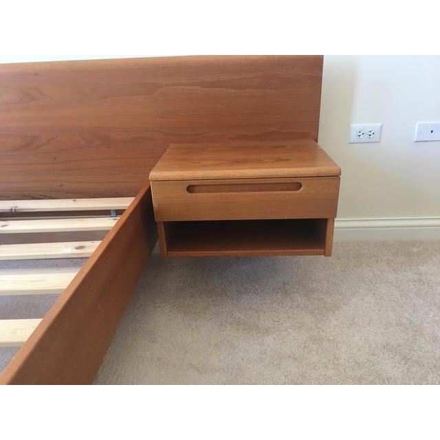 Image of Danish Modern Teak Queen Platform Bed With Nightstands