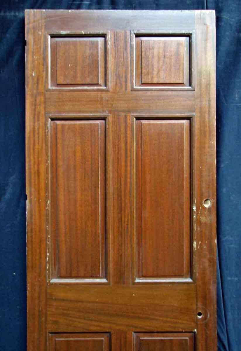 Reclaimed Antique Mahogany Veneer Door - Image 3 of 10  sc 1 st  Chairish & Reclaimed Antique Mahogany Veneer Door | Chairish pezcame.com