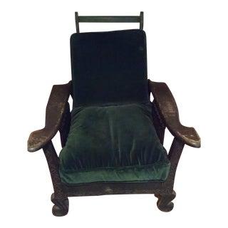 Antique Green Morris Chair