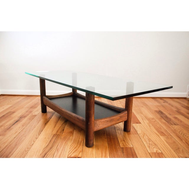 Mid-Century Teak and Glass Coffee Table - Image 5 of 6