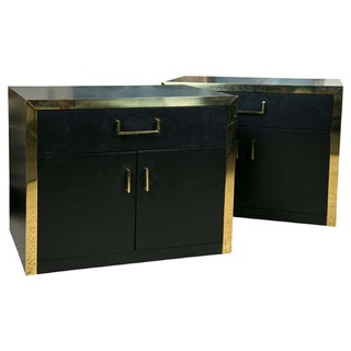 Ebonized Side Cabinets by John Stuart - A Pair
