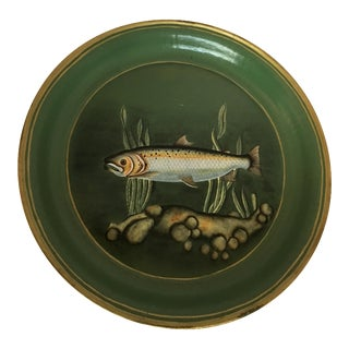 Vintage Paper Mache Fish Round Platter