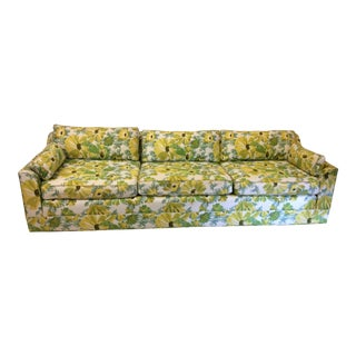 1970s Palm Beach Regency Style Floral Print Sofa