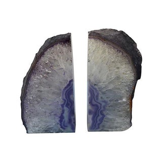 Lavender Geode Bookends - Pair