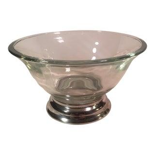 Silver Base Mid-Century Bowl