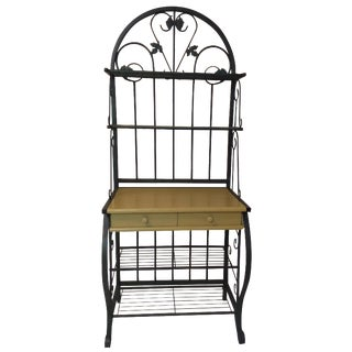 Metal Baking Rack with Grapevine Motif