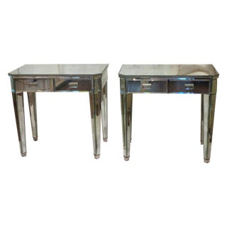 Mirrored Side Tables - A Pair