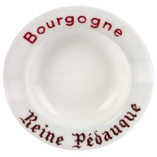 Vintage French Bourgogne Milk Glass Ashtray