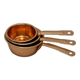 Copper Measuring Cups - Set of 3