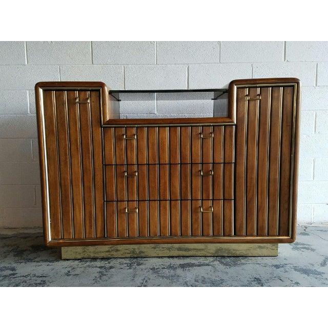 Walnut & Brass Bar Cabinet - Image 2 of 4