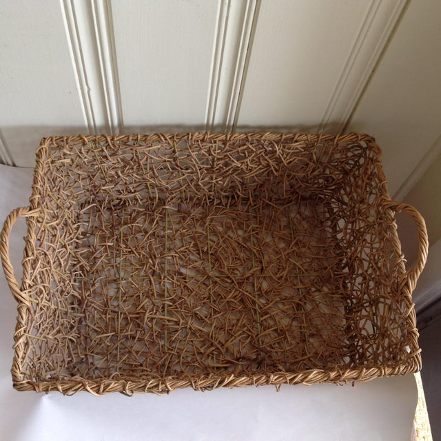 Natural Woven Twig Basket - Image 5 of 8