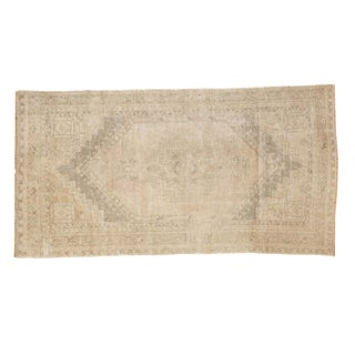 "Vintage Distressed Oushak Rug Runner - 3'7"" x 6'9"""