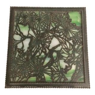 Louis Comfort Tiffany Grapevine Glass and Bronze Box