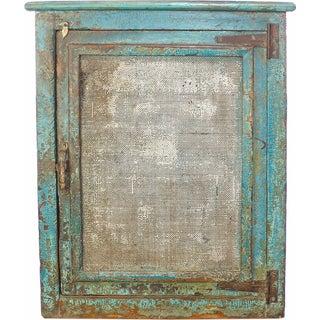 Vintage Rustic Mesh-Door Cabinet