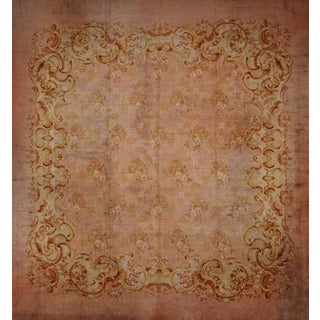 Antique European Savonarie Rug - 17' x 17'