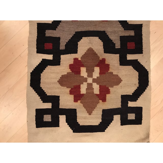 Vintage Woven Kilim Aztec Throw Rug or Wall Hanging - 1′12″ × 4′4″ - Image 3 of 7