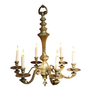 Bronze Six-armed Chandelier