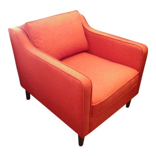 Red Orange Slope Arm Armchair