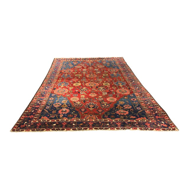 "Vintage Bellwether Rugs Persian Bactiari Area Rug - 6'9""x10'2"" - Image 1 of 11"