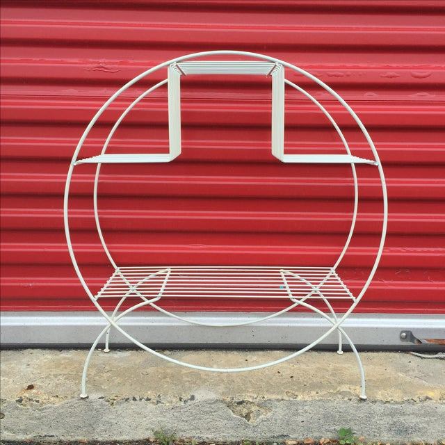 Mid Century Modern Wire Plant Stand - Image 2 of 6