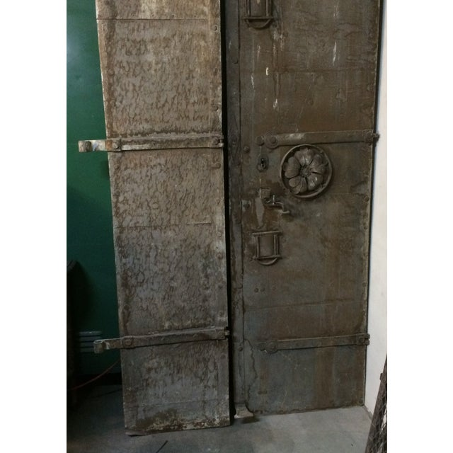 Commercial Metal Door Pricing : Industrial metal castle door chairish