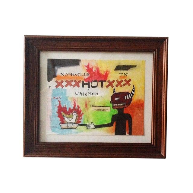 "Jeff Green ""Hot Chicken"" Mixed Media Artwork - Image 1 of 3"