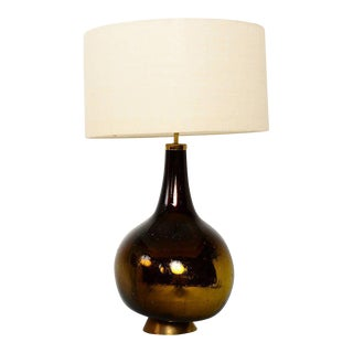 Gold and Yellow Mercury Glass Table Lamp