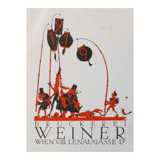 Original 1923 Julius Klinger Viennese Parade Poster