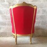 Image of Antique Louis XVI Red Velvet Chairs - Pair