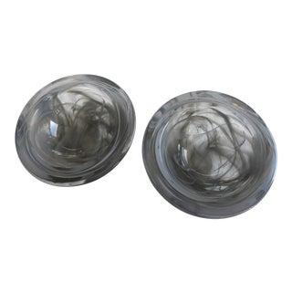 Signed Kosta Boda Swedish Art Glass Bowls - A Pair