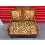 Image of Antique Carved Wood Settee