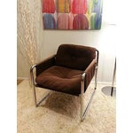Image of Mid Century Modern Chrome Accent Chair