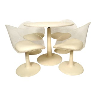 Midcentury Lucite and Tulip Base Set