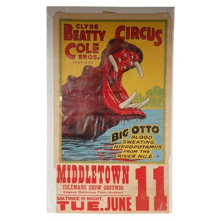 Clyde Beatty Cole Circus Poster