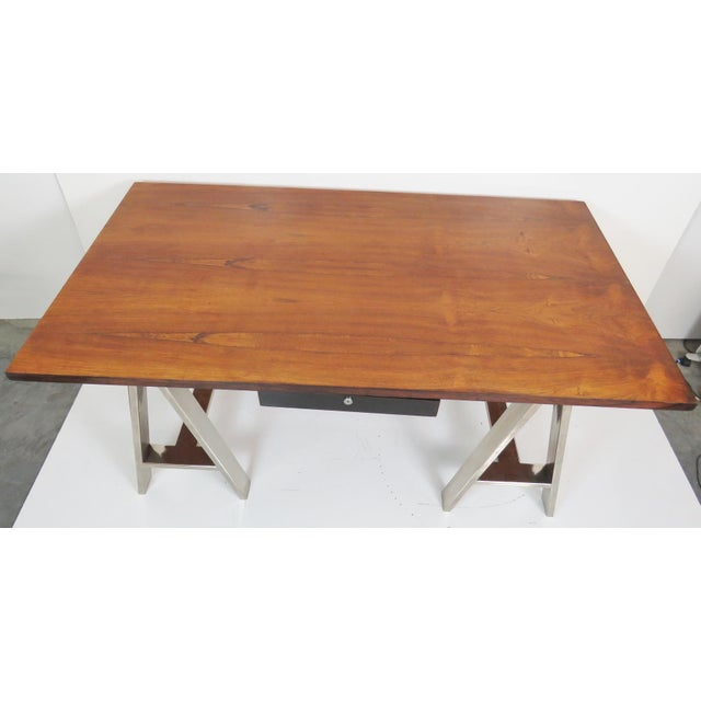 Modern Design Sawhorse Leg Desk - Image 5 of 6