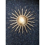 Image of Rustic Gold Sun Shaped Wall Sconces - Set of 3