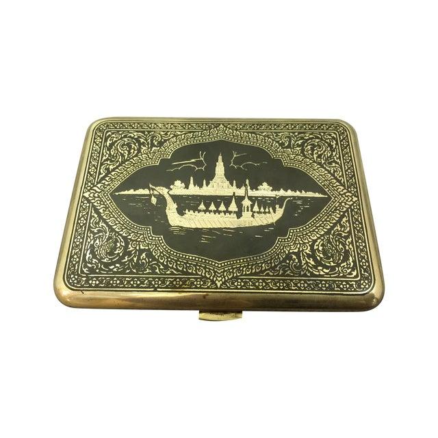 Siamese Sterling Cigarette Case - Image 1 of 6