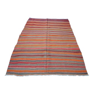 Turkish Oversize Kilim Rug- 7′2″ × 8′4″