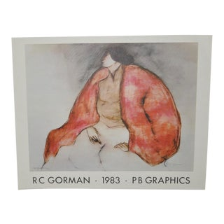 R.C. Gorman Pencil Signed Exhibition Poster