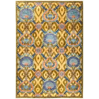 "Suzani Hand Knotted Area Rug - 6'3"" X 8'10"""