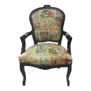 Tom & Jerry Cartoon Newspaper Accent Chair