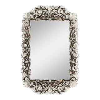 Transitional Small Rectangular Handcut Glass Mirror