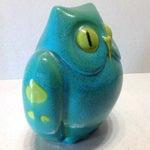 Image of Vintage Italian Pottery Owl Bank