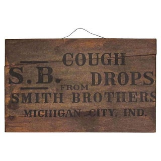 Smith Brothers Cough Drops Advertising Sign
