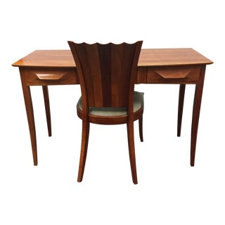 Thos. Moser Aria Writing Desk & Aria Side Chair