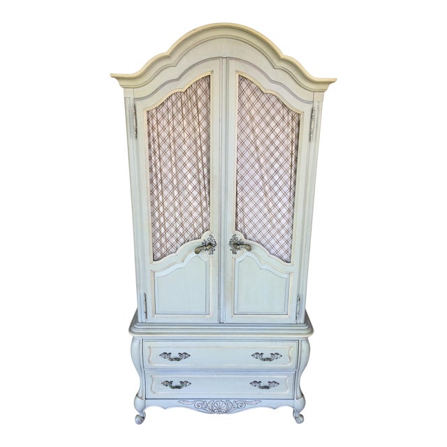 Hickory White French Provincial Armoire - Image 1 of 11